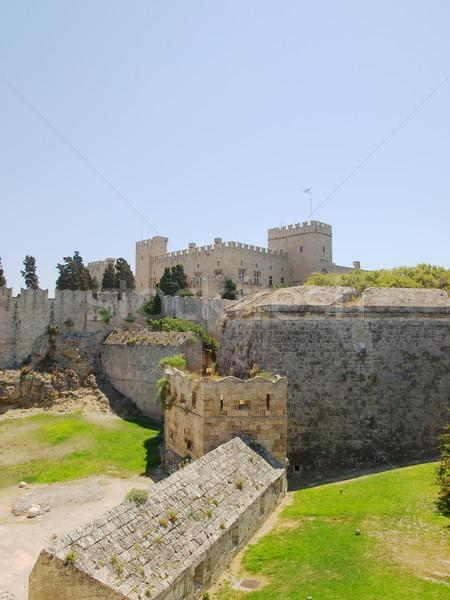 Rhodes old town walls Stock photo © tuulijumala