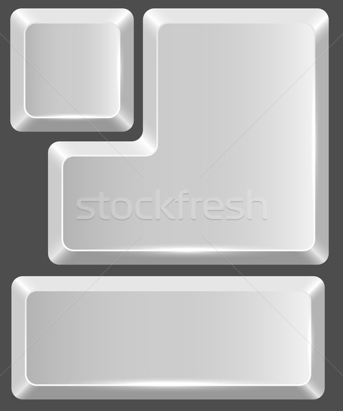 Blank white keyboard button Stock photo © tuulijumala