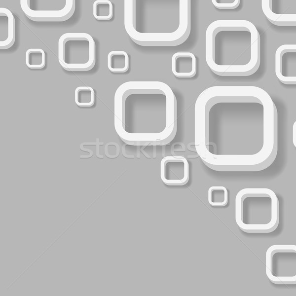 Abstract 3D hoek pleinen vector technologie Stockfoto © tuulijumala