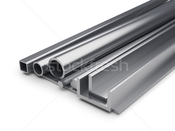 Rolled metal industrial background. Stock photo © tuulijumala