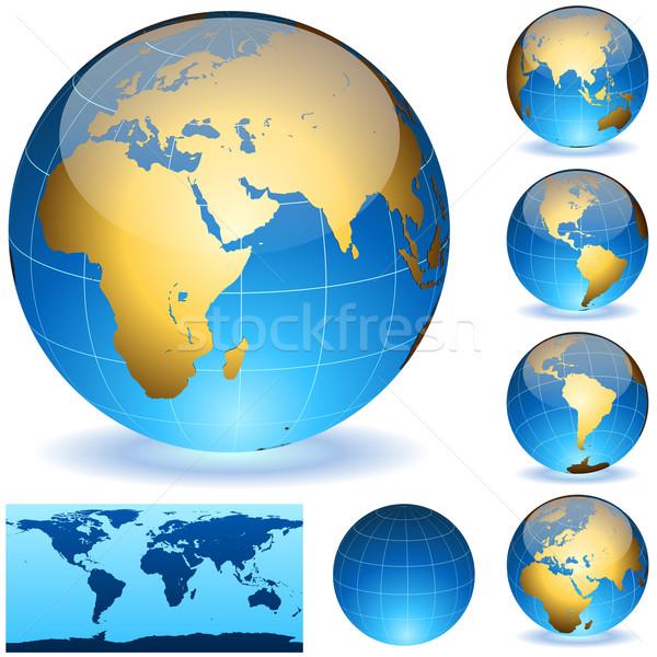 Vettore terra dettagliato mondo Foto d'archivio © tuulijumala