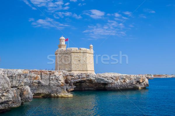 Spanje haven mond Blauw reizen vlag Stockfoto © tuulijumala