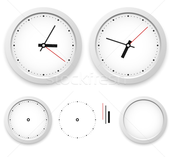 White wall clock vector template isolated on white background. Stock photo © tuulijumala