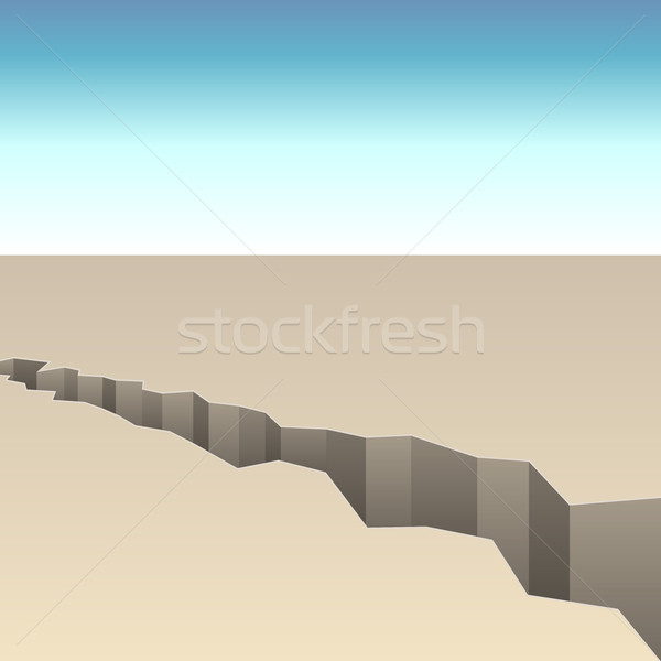 Stock photo: Abstract crack in the ground vector background.
