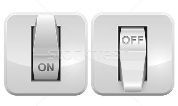 Elektrische schakelaar web vector icon geïsoleerd Stockfoto © tuulijumala