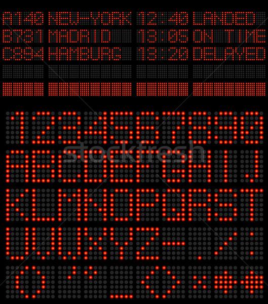 Aeroporto programar alfabeto vermelho diodo vetor Foto stock © tuulijumala