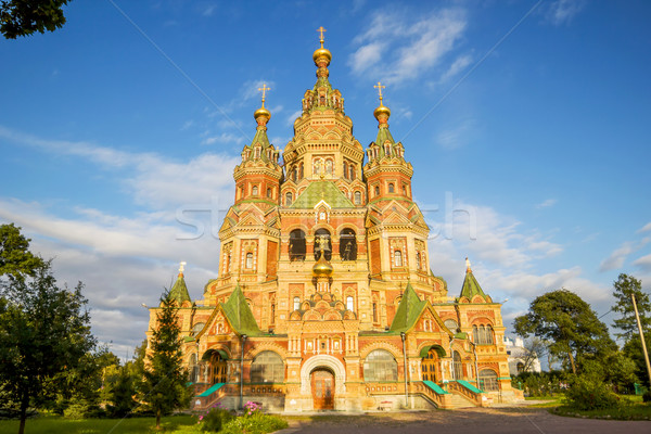 Catedral ciudad cruz verano viaje ladrillo Foto stock © tuulijumala