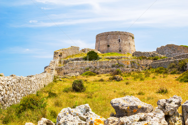 Fort landschap Spanje hemel gras groene Stockfoto © tuulijumala