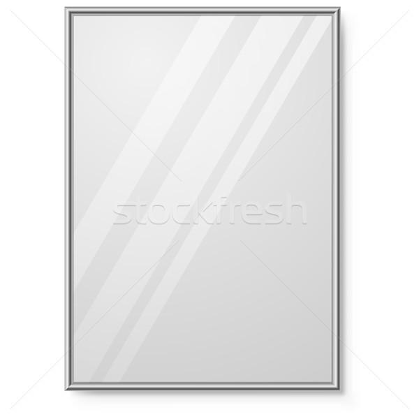 зеркало хром кадр стены вектора шаблон Сток-фото © tuulijumala