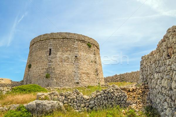 каменные форт стены пейзаж зеленый архитектура Сток-фото © tuulijumala