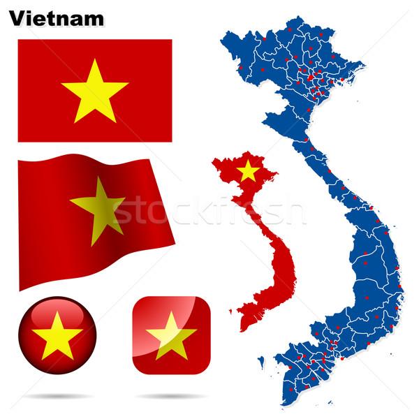 Viêt-Nam vecteur détaillée pays forme Photo stock © tuulijumala