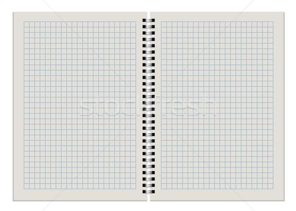 Blank checkered notepad double page spread Stock photo © tuulijumala