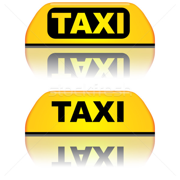 Black and yellow taxi top sign vector illustration. Stock photo © tuulijumala