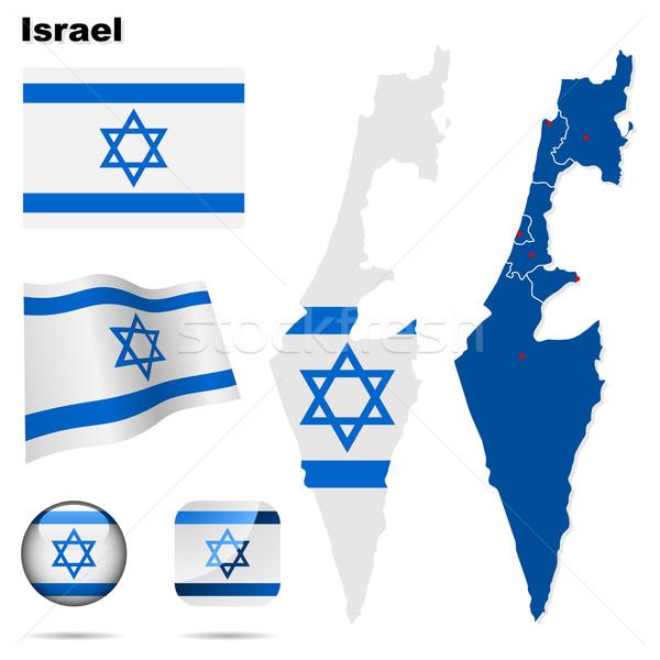 Сток-фото: Израиль · вектора · набор · подробный · стране · форма