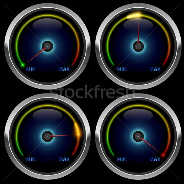 Foto stock: Colorido · isolado · preto · verde · bar