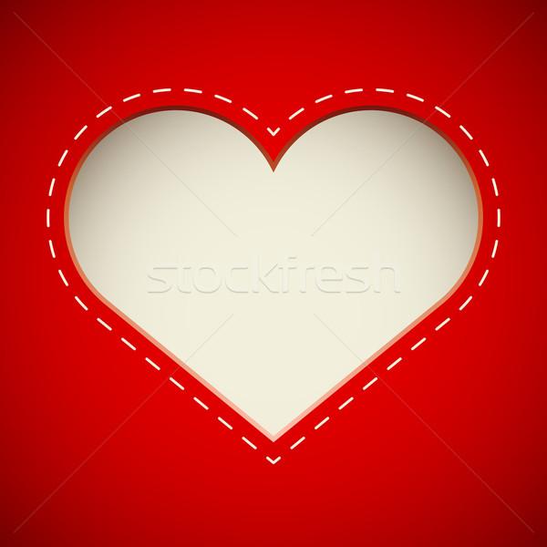 Dag gesneden hart kaart vector sjabloon Stockfoto © tuulijumala