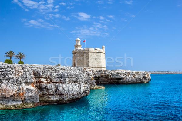 Castell de Sant Nicolau at the port mouth of Ciutadella de Menor Stock photo © tuulijumala