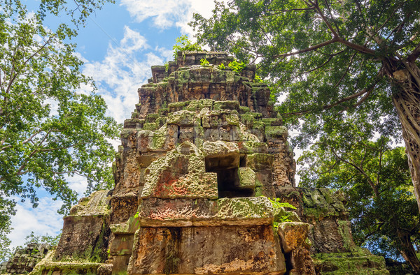 Ta Prohm temple ruin at Angkor Stock photo © tuulijumala