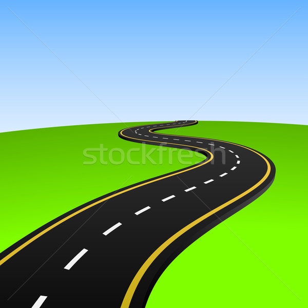 Vector illustration of abstract highway going to horizon. Stock photo © tuulijumala