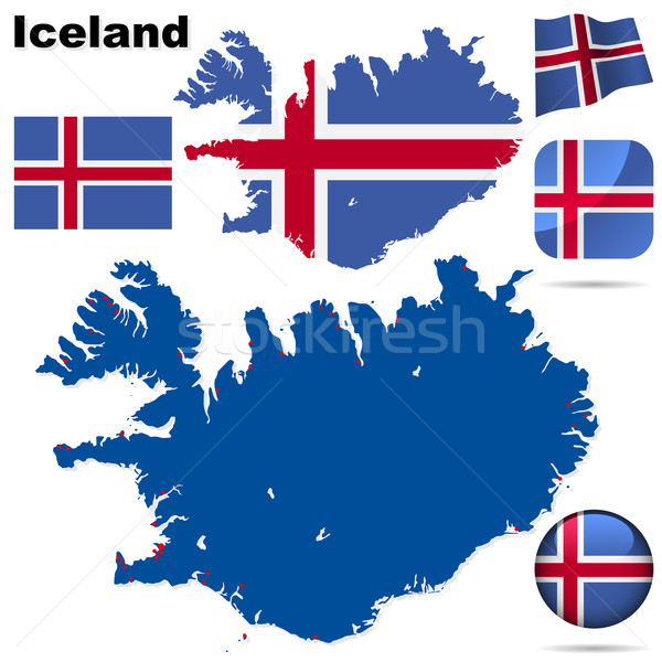Iceland vector set. Stock photo © tuulijumala