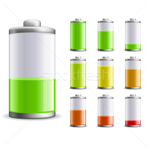 Battery charge status vector illustration.  Stock photo © tuulijumala