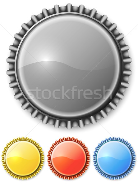 Metal bottle cap isolated o white background with color variants Stock photo © tuulijumala