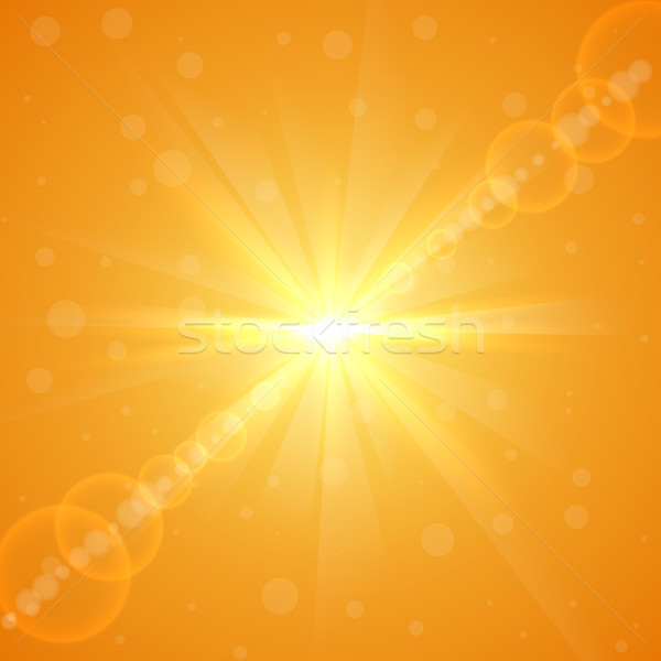 Bright yellow summer sun burst vector background. Stock photo © tuulijumala
