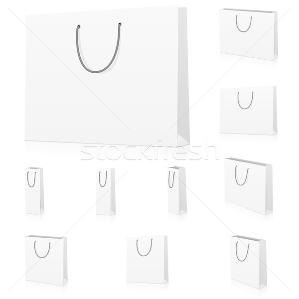 Wektora zestaw puste papieru odizolowany biały Zdjęcia stock © tuulijumala