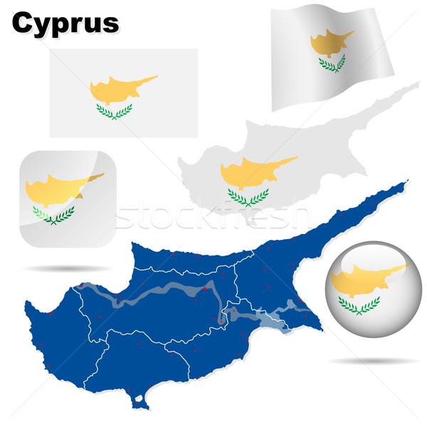 Cyprus vector set.  Stock photo © tuulijumala