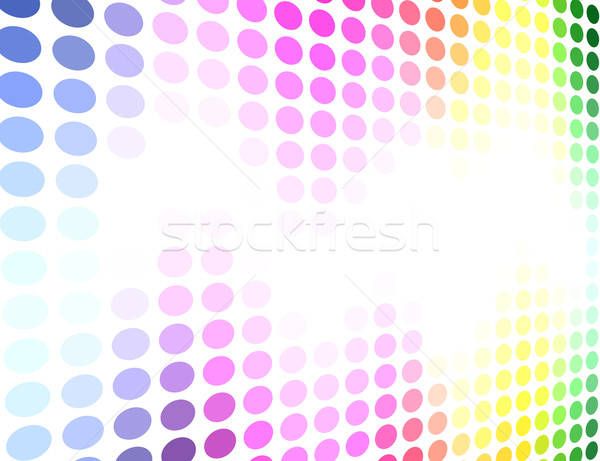 Spectrum gekleurd cirkel patroon vector abstract Stockfoto © tuulijumala