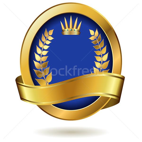 Gouden koninklijk label geïsoleerd witte ontwerp Stockfoto © tuulijumala