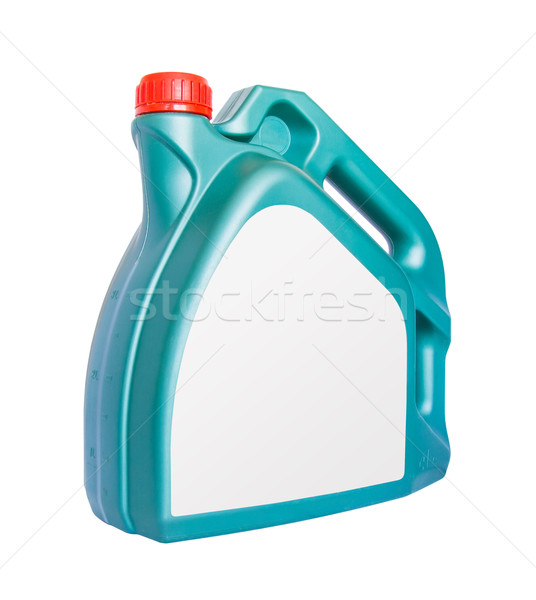 Engine oil canister with blank label isolated on white backgroun Stock photo © tuulijumala