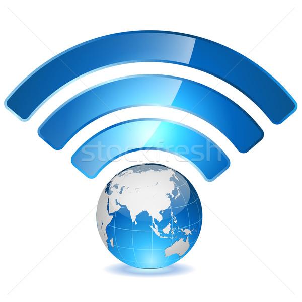 Wireless accesso punto globale rete mondo Foto d'archivio © tuulijumala