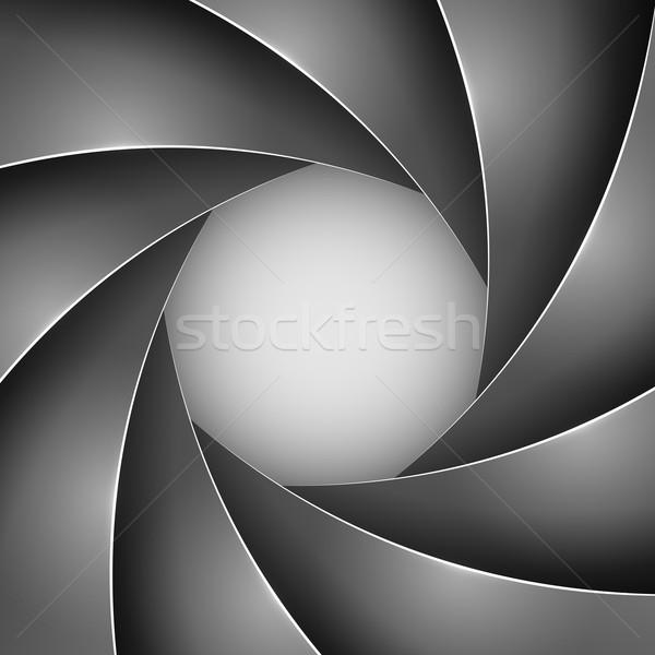 Abstract black photo shutter aperture vector background. Stock photo © tuulijumala