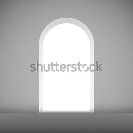 Abstract archway to the light vector template. Stock photo © tuulijumala