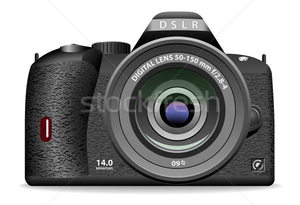 Dslr фото камеры изолированный белый Сток-фото © tuulijumala