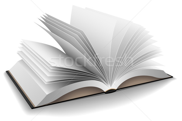 Vector illustration of opened book with hard black cover isolate Stock photo © tuulijumala