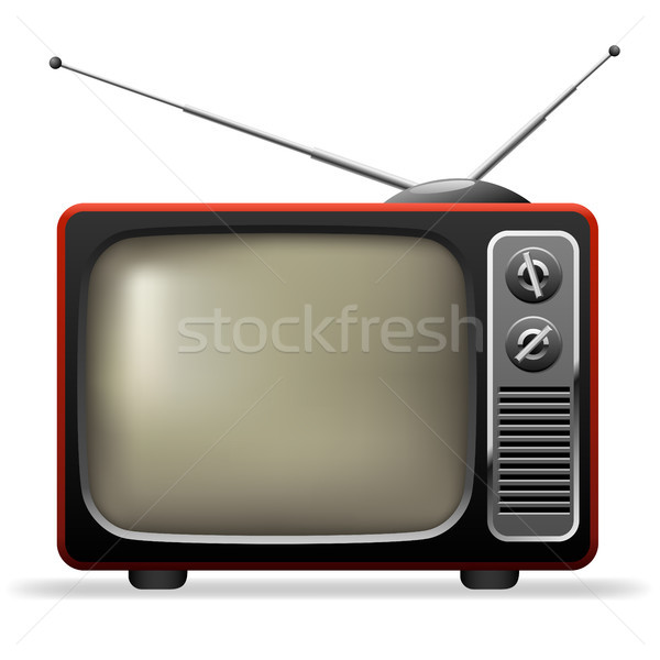 Retro TV set realistic vector illustration. Stock photo © tuulijumala