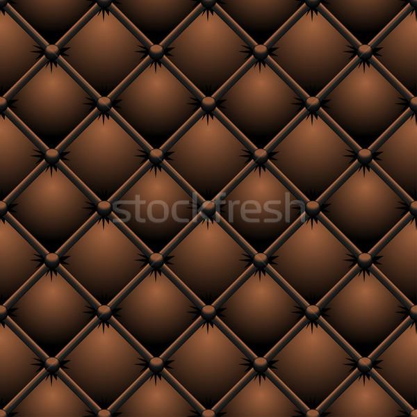 Buttoned brown leather vector texture.  Stock photo © tuulijumala