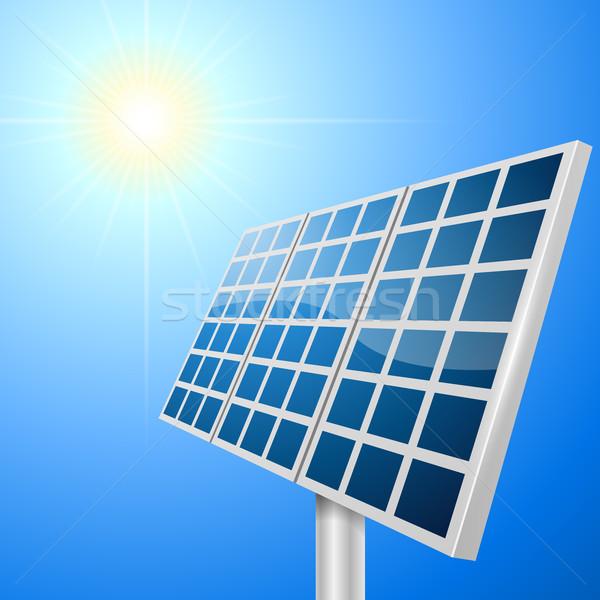 Solar panel vector illustration Stock photo © tuulijumala