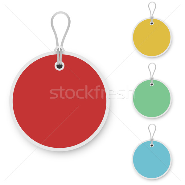 Blank color round price tag Stock photo © tuulijumala