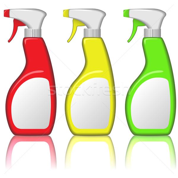 Vector set of blank spray bottles isolated on white background. Stock photo © tuulijumala