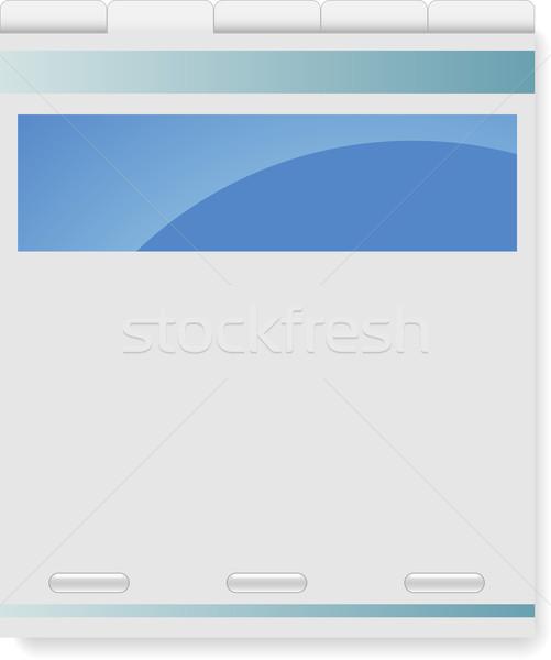 Vector easy editable company website template.  Stock photo © tuulijumala