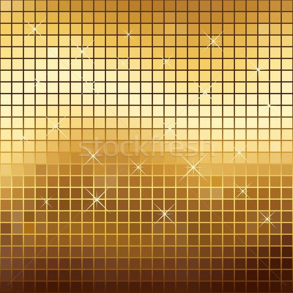 Abstract gold colored sparkling mosaic background. Stock photo © tuulijumala