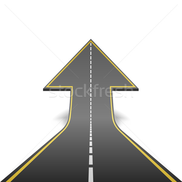 Straight road turning into ascending arrow concept vector illust Stock photo © tuulijumala