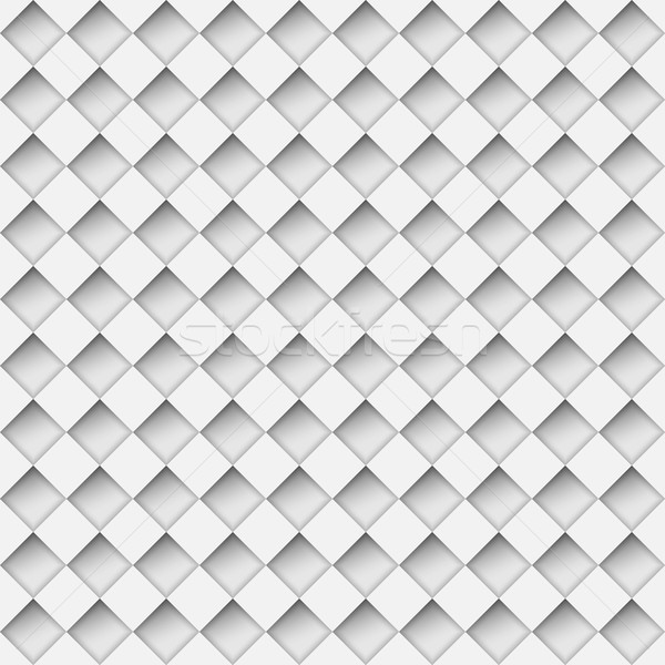 Seamless white notched diamond shapes vector pattern.  Stock photo © tuulijumala
