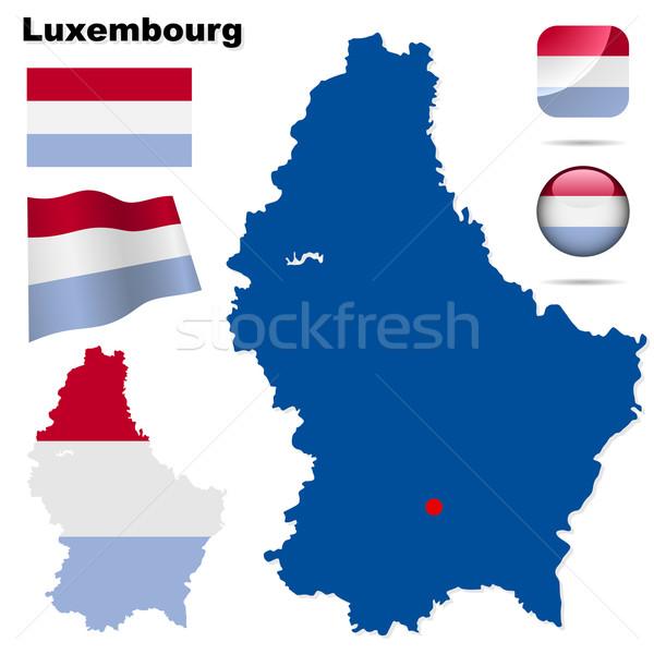 Stockfoto: Luxemburg · vector · ingesteld · gedetailleerd · land · vorm