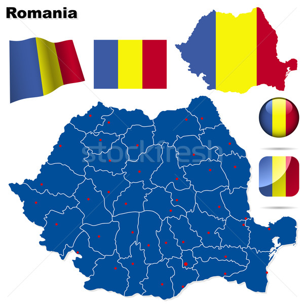 Stock photo: Romania vector set.