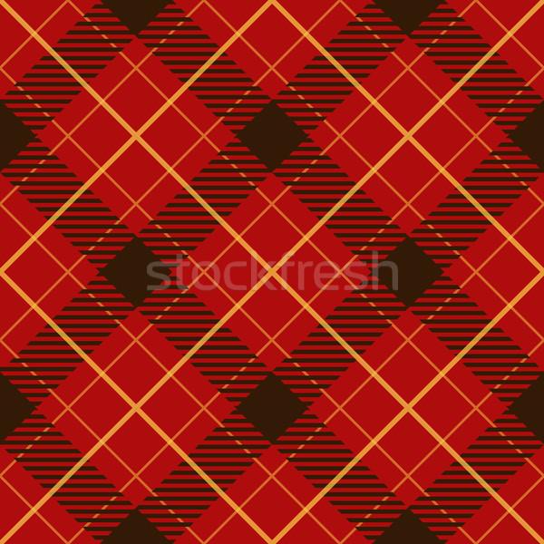 Sin costura rojo diagonal vector patrón Foto stock © tuulijumala