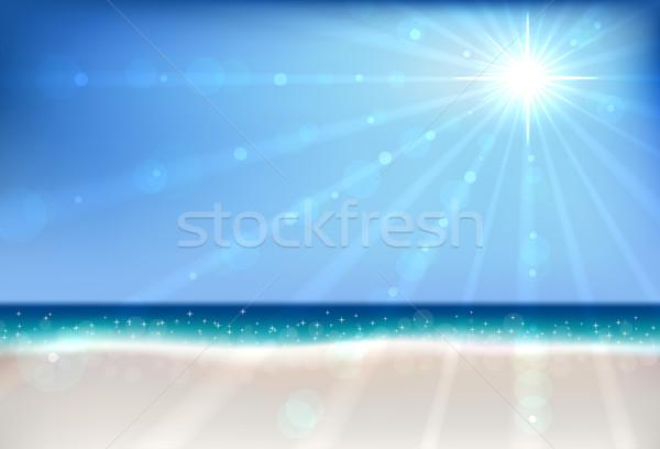 été plage bokeh vecteur soleil flare Photo stock © tuulijumala